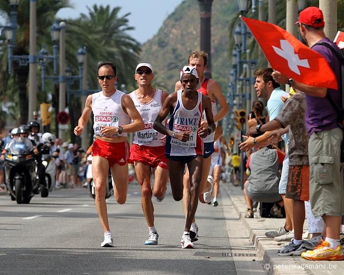 Marathon EK Barcelona, Röthlin, Martinez, Theuri en Safronov